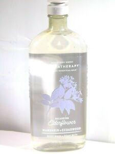 Bath & Body Works Aromatherapy ELDERFLOWER Body Wash & Foam Bath 10oz