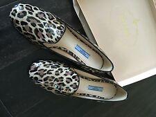 Prada womens leopard - print patent leather slipper - SZE 37 NIB