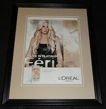 Lara Stone 2015 L'Oreal Feria Platinum Framed 11x14 ORIGINAL Advertisement