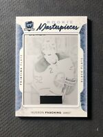 2016-17 UD THE CUP HUDSON FASCHING ROOKIE MASTERPIECES PRINTING PLATE #ed 1/1