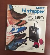 Mura Hi Stepper Personal Pocket Size AM/FM Stereo New Model HI-3! BRAND NEW!!!
