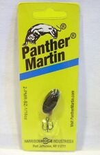 Panther Martin 1/16oz Black Zebra Spinner Spinnerbait Fishing Lure