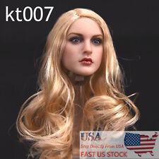 "US Stock KIMI TOYS KT007 1/6 Long Hair Head Model F 12"" Female PH Figure Bodies"
