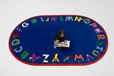 Educational Rug For Schools - Day Care - Kids Room 5' x 8' ALPHA WITH ATTITUDE