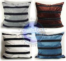 "Velvet Stripe Cushions or Covers Only in 4 Lovely Colors 21""X 21"" 53cm X 53 cm"
