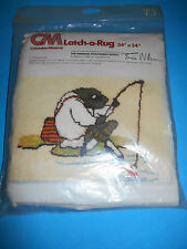 Rare Oop 1978 Jeremy Fisher Latch Hook Canvas Beatrix Potter Frog Peter Rabbit