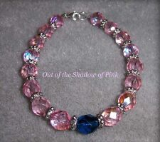 Czech Fire Polished Glass Male Breast Cancer Bracelet