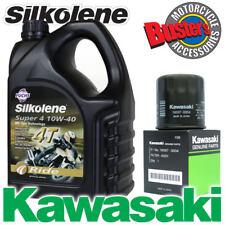 ZX12R ZX12-R 00-05 Genuine 16097-0004 Kawasaki Oil Filter & Silkolene Super4