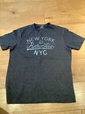 TU T Shirt Dark Grey New York Retro NYC Large Mens Tee Good condition