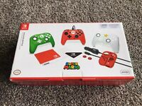 Nintendo Switch Super Mario Accessory Bundle New in Box Controller + Extras