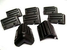 "Eight (8) Black Plastic Speaker Box Corners 3"""