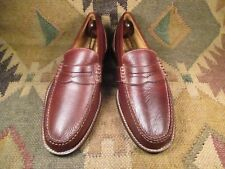 SPERRY TOP-SIDER  GOLD CUP Brown Textured Leather Penny Loafers  Size USA 10M
