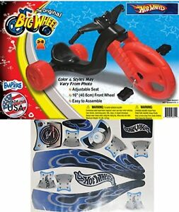 The Original Big Wheel Trike Limited Edition  Boys  with Gray Hot Wheels Decals