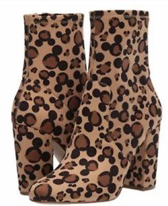 Aldo x Disney Stepinmagic Fabric Zip Boots Leopard Mickey Size 9 -NEW! RARE!