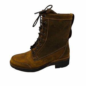 New Timberland Women Graceyn Lace up Lug Sole Boots Sz 7M Brown Waterproof NIB