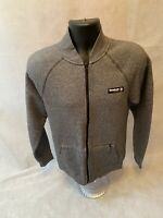 Lovely Mens Reebok Classic Sweatshirt Zip Up Bomber Style Small. Grey.
