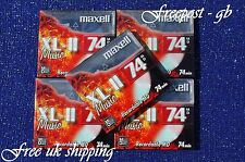 5 x  MAXELL XL-II RECORDABLE BLANK MINIDISCS - 74 MINUTES - NEW BOXED WITH CASES