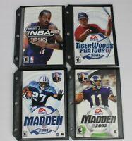 NBA 2K2 Tiger Woods Pga Tour Madden 2001 2002 Lot Of 4 Games Playstation 2