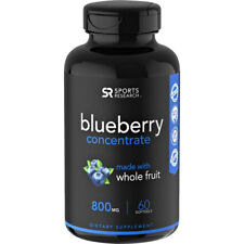 Sports Research Blueberry concentrado Suplemento Nutricional - 60 Cápsulas
