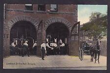 C1907-1915 Vintage Postcard Lombard Street Fire Hall TORONTO Ontario Canada