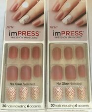 (2) Kiss Impress à Presser Manucure, Harlem Secouer