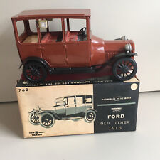 """BANDAI FRICTION, TIN 1915 FORD """"AUTOMOBILES OF THE WORLD"""" SERIES W/BOX IN RUST."""