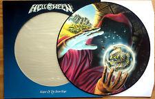 EX/EX HELLOWEEN KEEPER OF THE SEVEN KEYS PART 1 VINYL PICTURE DISC LP + STICKERS