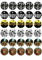 30 X THE BEATLES MIXED IMAGES EDIBLE CUPCAKE TOPPERS PREMIUM RICE PAPER 128