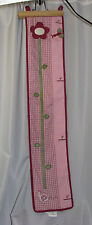 BABY MARTEX BLOSSOMS GROWTH CHART NURSERY DECOR FLOWER BUTTERFLY PLAID PINK/WINE