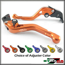 Strada 7 CNC Shorty Adjustable Levers Kawasaki ZX9 1994 - 1997 Orange