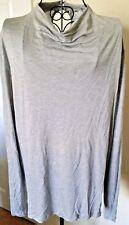 H & M Tunic Shirt XL Women's Cowl Neck Keyhole Back High Low Hem Soft Gray