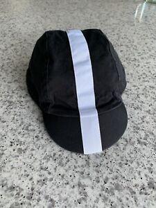 Rapha Cycling Cap - Black White Stripe - Medium