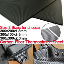 Carbon Fiber Thermoplastic Sheet Snake Twill Plate DIY Sheath/Holster Material