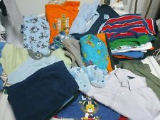 Huge lot 3-6 months toddler boys clothes pants swaddle sbirts bibs sleepers sets