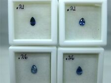 4, Faceted Benitoite Gemstones, Pear cut, #egb27