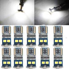 10x T10 6 SMD 3030 LED White Car Side Light Lamp Wedge Bulb Super Bright Light