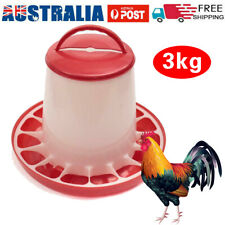 3Kg Automatic Chicken Feeder Plastic Poultry Chook Hen Food Eating Seed Bucket