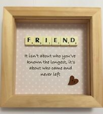Beautiful Scrabble Friend Birthday Present. Perfect For Your Friend As A Gift