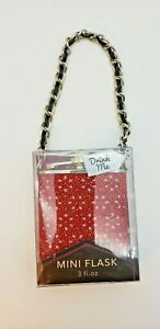 Wild Eye Design Mini Flask Bling Red 3oz Stainless Steel Alcohol Spirit DivineMe