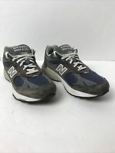 New Balance Mens 993 Running Shoes Brown Blue MR993NV Low Top Made USA 8 1/2 4E
