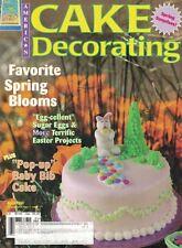 American CAKE DECORATING Magazine Apr 1998 Spring Designs