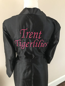 Luxury satin Embroidered Any Name dressing gown / Robe/Luxury satin wrap Gift