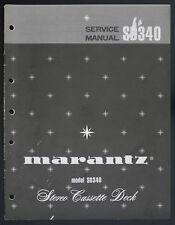 MARANTZ Model SD340 Original Stereo Cassette Deck Service-Manual/Diagram o124