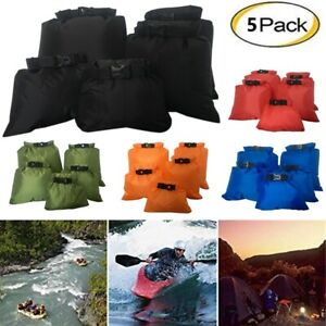 5PCS Waterproof Dry Bag Outdoor Swimming Kayaking Drifting Buckled Storage Sack