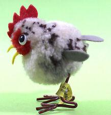 STEIFF Wollhuhn  HUHN Henne Wool Chicken mit  Knopf + Fahne  Nr.1508,4 ca. 1970