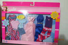 Barbie 6 Fashion Gift Pack 2002 Includes 6 tenue Complete Outfit 2 Mattel #68073