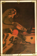 Original Vintage Poster Nfl Football Memorabilia Sports Pin Up Cleveland Browns