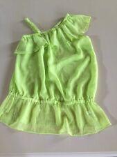 Ladies Small Green One Shoulder Shirt Fashion Bug New