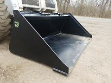 "Brand New Powder Coated 60"" Smooth Bucket For Skid Steer Loader - Free Shipping"