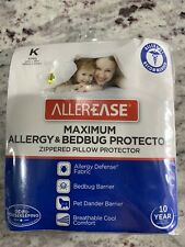 AllerEase Maximum Allergy & Bedbug Pillow Protector King Size